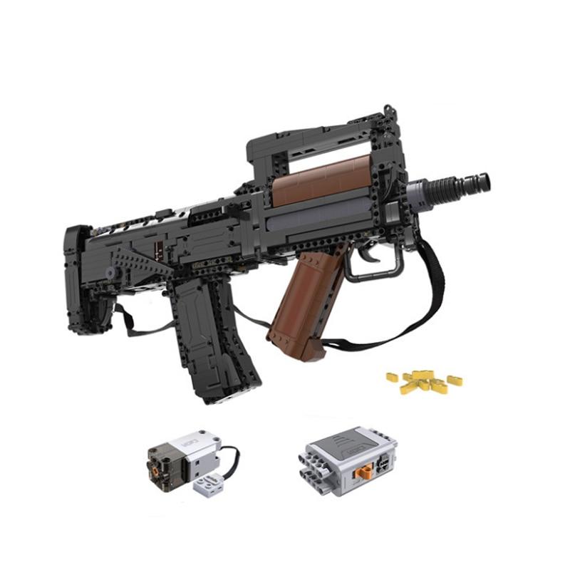 CADA C81021 اللبنات انقر 17s بندقية الاعتداء بندقية إطلاق رصاصة طرية الصبي الربط لغز لعبة مجسمة