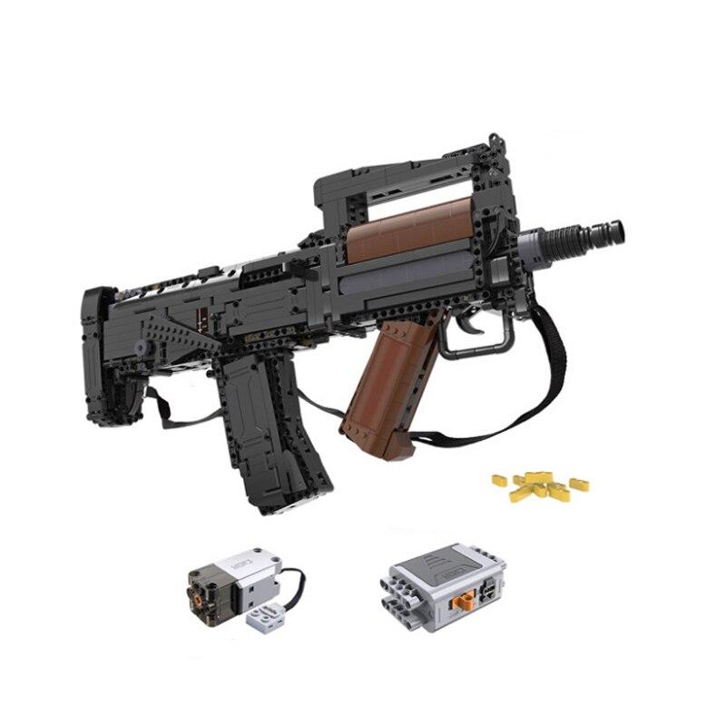 CADA C81021 Building blocks click 17s assault rifle gun launch Soft Bullet Boy splicing puzzle model toy