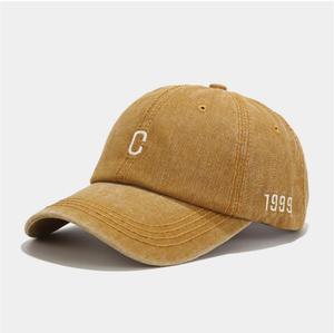 Letter C baseball cap Retro hat Denim Jean hat leisure cap spring outdoor sun hat men women do old style water wash