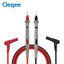 Cleqee P1502 2 uds multímetro sondas reemplazable agujas sonda Universal de prueba para multímetro Digital Cable de antena de Cable 1M