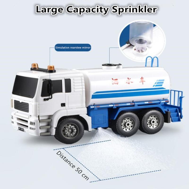 Simulation Remote Control Sprinkler RC 2.4G 1:20 30mins Water Spray Simulation Music Lighting Model Truck Drop Resistance  Toys enlarge