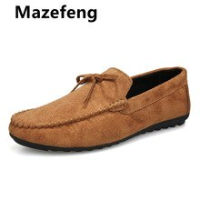 Mazefeng 2021 Men Casual Shoes Fashion Men Shoes Artificial Leather Men Loafers Moccasins Slip on Me