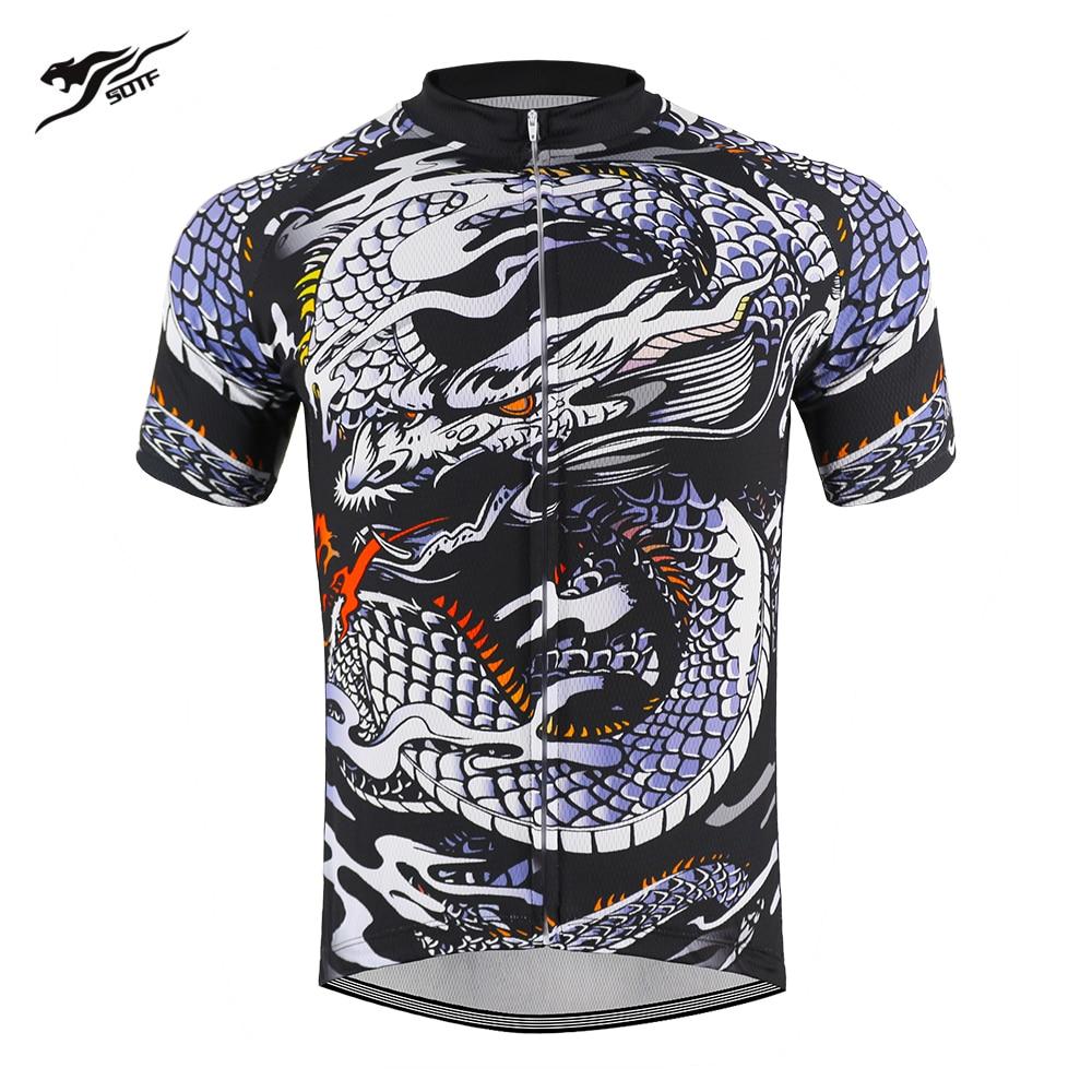 Dragón chino transpirable Unisex Anti-Pilling void retro manga corta ciclismo jersey hombres road bike camiseta para bicicleta de montaña maillot