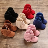 men and women baby winter style thermal trainers 0 18months neonatal indoor walking shoes bed shoes fashion tassels soft sole