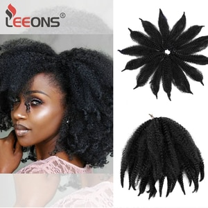 8Inch Marley Crochet Braids Hair Extensions Kinky Fluffy Bulk Synthetic Braid Hairs African Free Hairstyle Black Brown For Women
