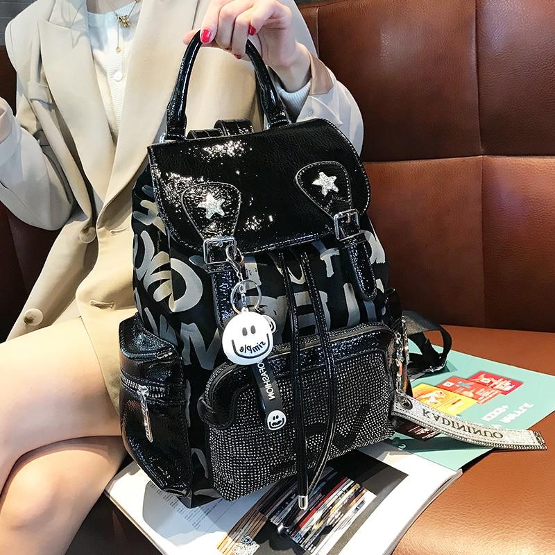 Big Print Letter Women's Bag Fashion New Female Backpack 2020 Large Capacity Luxury School Bolsas