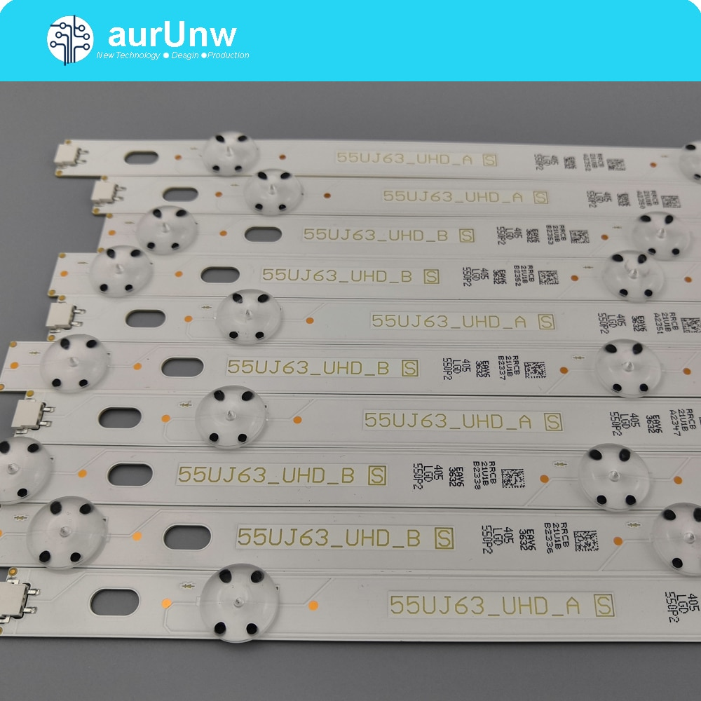 Tira de LED para iluminación trasera 8 lámpara para LG 55