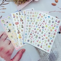 new cool beautiful girl pattern nail stickers self adhesive transfer decals 3d slider diy skills decorations manicure package
