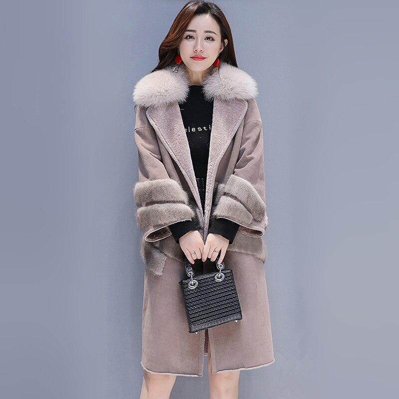 Suede Overcoat Women Long Coat Winter enlarge