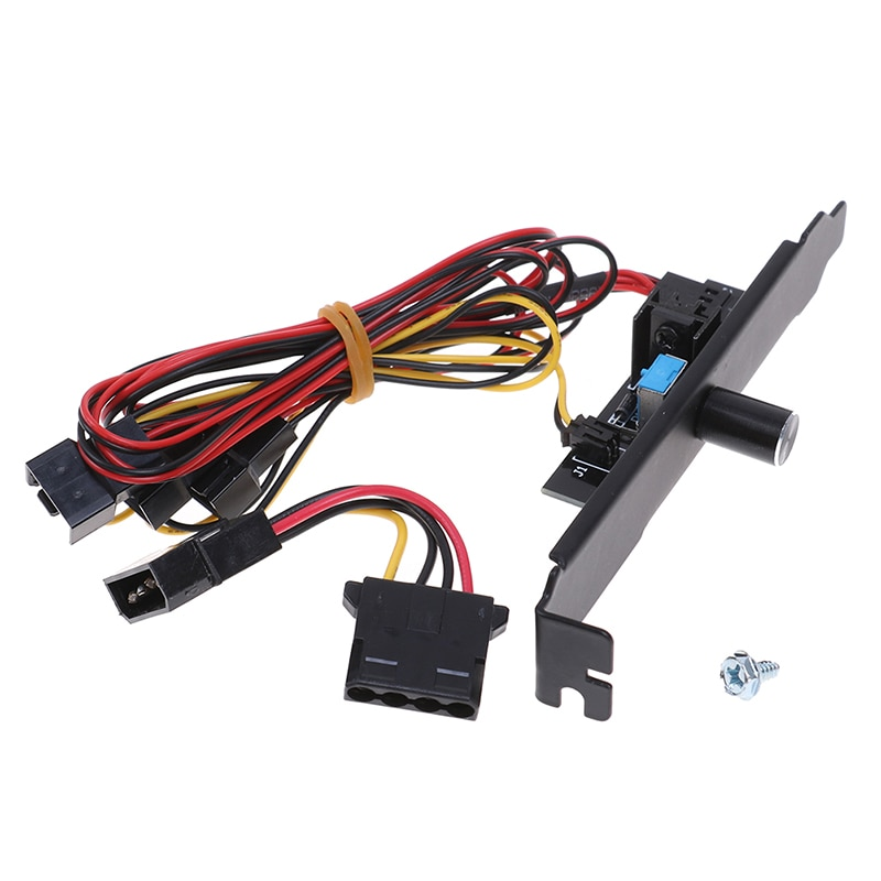 3 way pc cooler cooling 3pin fan speed controller for cpu case hdd ddr graphics card w self stick power molex ide 4pin female 1Pc 3 Channels PC Cooler Cooling Fan Speed Controller for CPU Case HDD VGA Fan