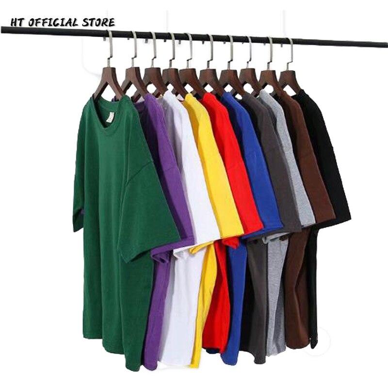 Футболка мужская оверсайз с коротким рукавом, майка свободного покроя, Повседневная рубашка в стиле Харадзюку, 11 цветов, 5XL, однотонная   Мужская одежда   АлиЭкспресс