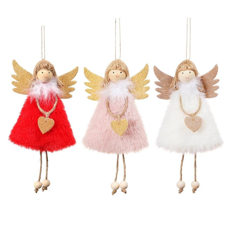 Украшение для дома, кулон эльфа ангела, Розовый Рождественский подарок на день рождения, подарок Mery 2020, новый год, белый, Счастливого Рождест...