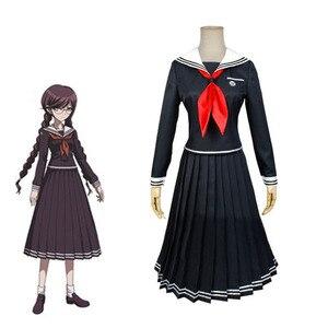 Anime Dangan Ronpa 2 Costumes Fukawa Touko Cosplay Girls JK Sailor  School Uniforms Wigs Sailor Suit s Women Halloween Outfits