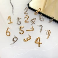 arabic numerals from 1 to 9 number stud earring for woman jewelri fashion party date shopping accessory