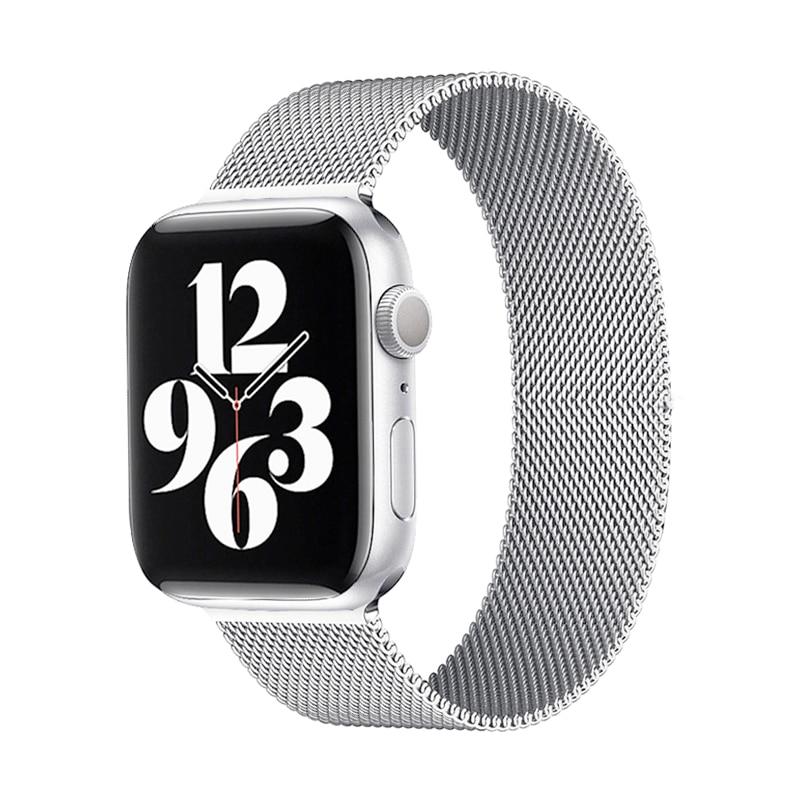 Ремешок «Миланская петля» для Apple Watch 40 мм 44 мм, магнитный браслет из нержавеющей стали для iwatch Series 6 SE 5 4 3, 38 мм 42 мм