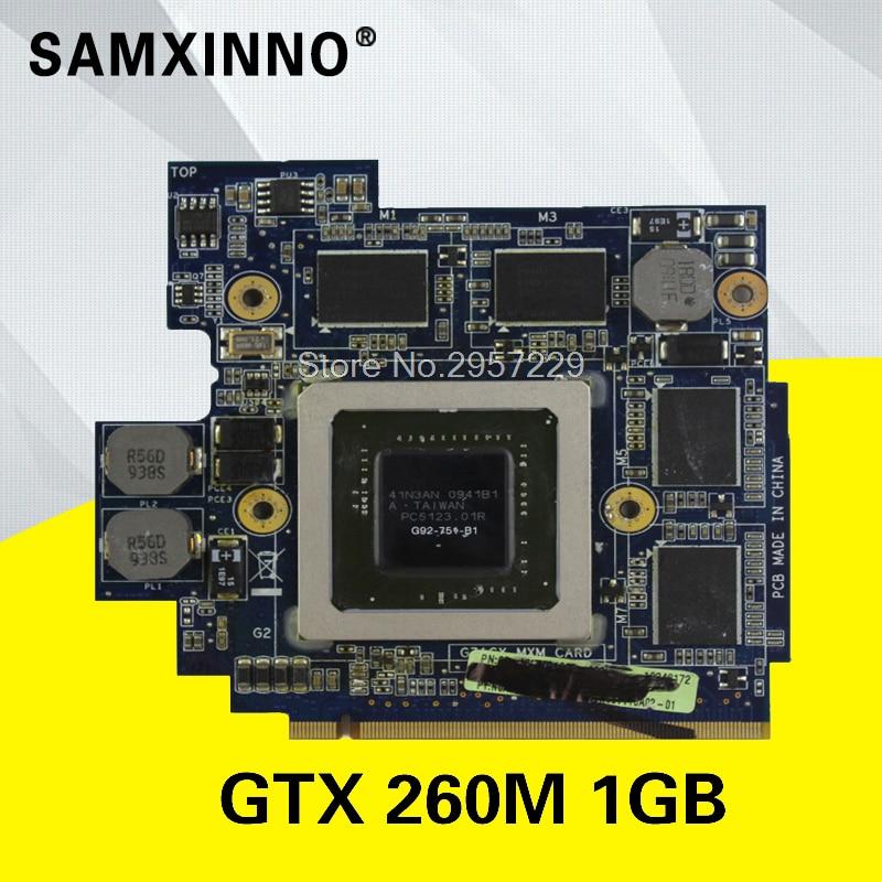 Placa de vídeo original para For Asus g71 g71g g71gx g72g g72gx gtx 260m 1gb notebook G92-751-B1 placa gráfica