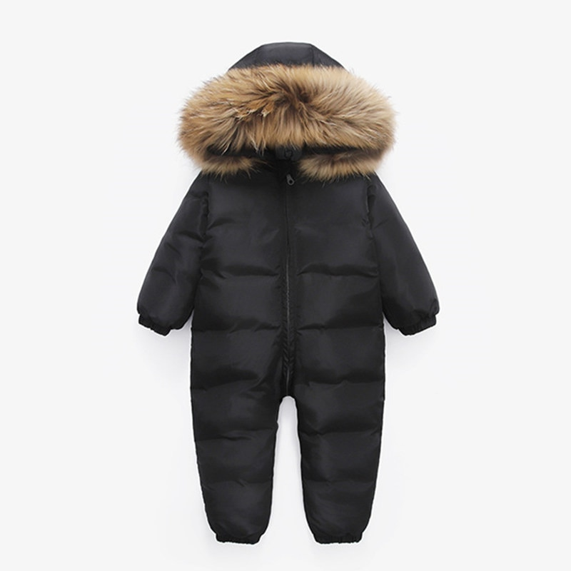 بذلة شتوية روسية للأطفال ، ملابس شتوية للأطفال الأولاد ، سترة من الفرو الطبيعي 90% ، سترة بطة للبنات ، معطف ، مجموعة جديدة
