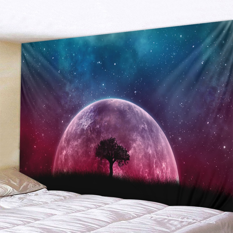 Звездное небо гобелен с изображением деревьев психоделические Вселенной иллюстрации гобелены Love You To хиппи кружева гобелен богемный Декор