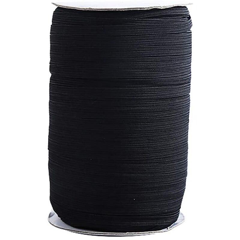 Novo 1/4 Polegada cabo elástico pesado stretch string trançado elástico banda/corda elástica 200 quintal costura elástica spool para jóias mak