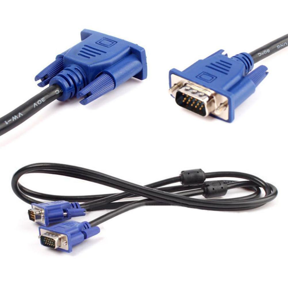 Nuevo 1,5/3/5/10M VGA extensión macho a macho Cable Convertidor para PC TV...