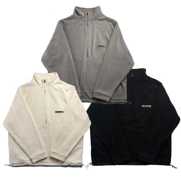 Новинка, брендовая мужская рубашка в европейском и американском стиле на молнии, 100% хлопок, пуловер, флисовая куртка, женская Свободная Толстовка