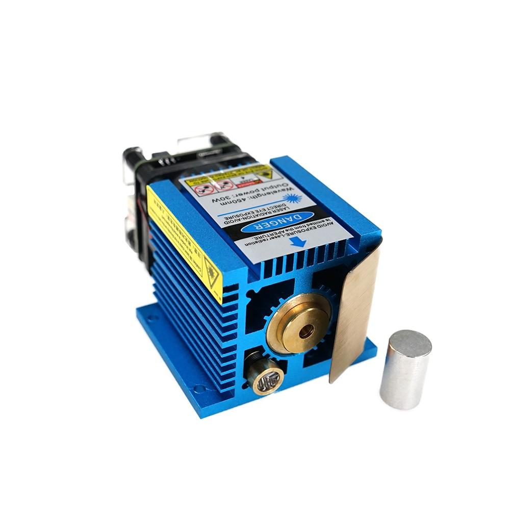 Laser Module 30W 51mm 450nm Blue Light Fixed Focus DIY Carving Engraving Machine Engraver Accessory DIY Tools Laser Module Head enlarge