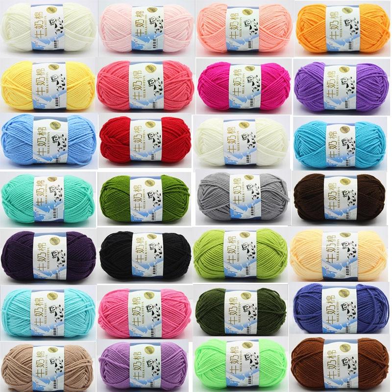 1pcs Crochet Yarn Milk Cotton Knitting Soft Warm Baby for Hand Supplies