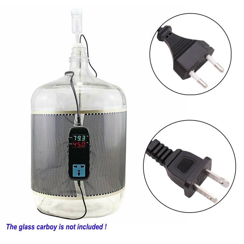 Glass Carboy-مجموعة التحكم في درجة الحرارة ، سخان تخمير المنزل ، ترموستات ، قابس الاتحاد الأوروبي/UL