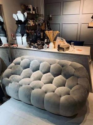 Sofá de ocio, sofá postmoderno, ligero, de lujo, para gente perezosa, bolsa pequeña, sala de estar familiar, individual, sofá doble de tres
