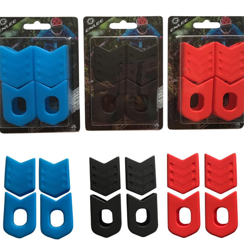 Enlee bielas manivelas de bicicleta manga protectora MTB bicicleta de carretera juego de bielas de ciclismo cubierta protectora manivela botas de brazo negro, rojo, azul