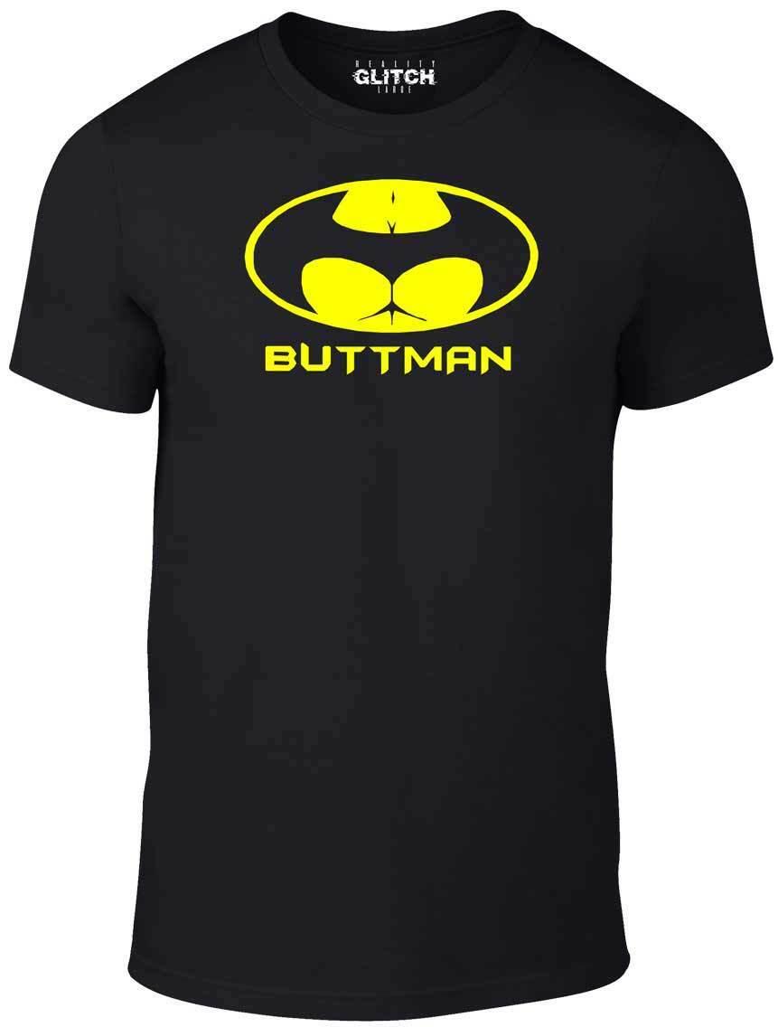 Buttman T-Shirt - T Shirt Funny Banter Movies Girls thong Bum Butt Cool Fashion