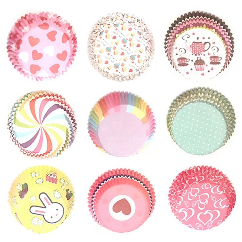 100 Stuks Cupcake Wrapper Papier Cake Case Baking Cups Liner Muffin Dessert Bakken Cup