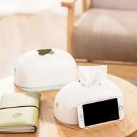045 tissue case button press open cover bread type tissue paper box mobile phone drawer storage decoration