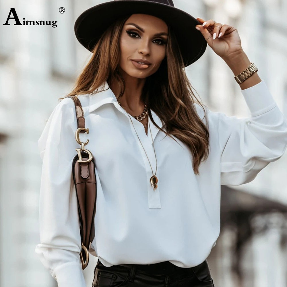 Aimsnug Plus Size Ladies Elegant Leisure Casual Shirt Womens Top Pullovers 2021 Summer Blouse Femme blusas shirt ropa mujer