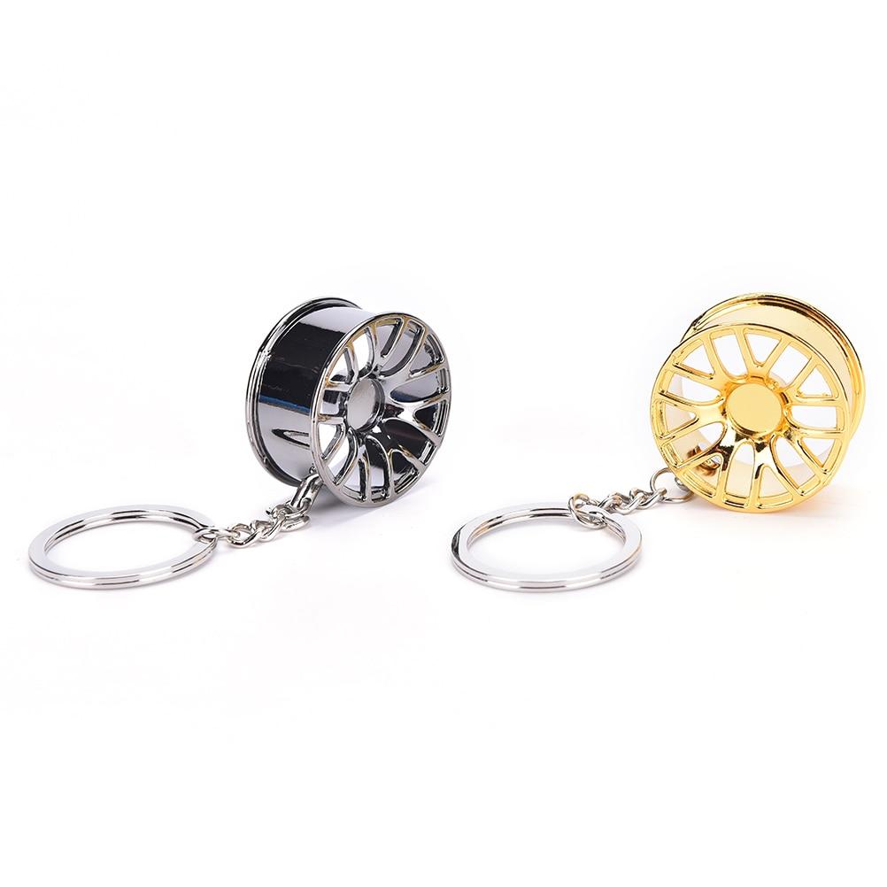 1Pc Auto Tire Rims Key Chain Auto Parts Keychain Automotive Wheel Hub Keychain Autoparts Key Ring Car Key Chain