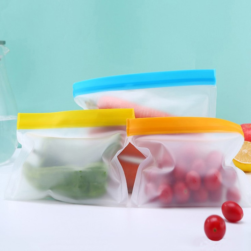 Saco de comida de silicone peva fosco saco de preservação de alimentos de silicone saco de congelador