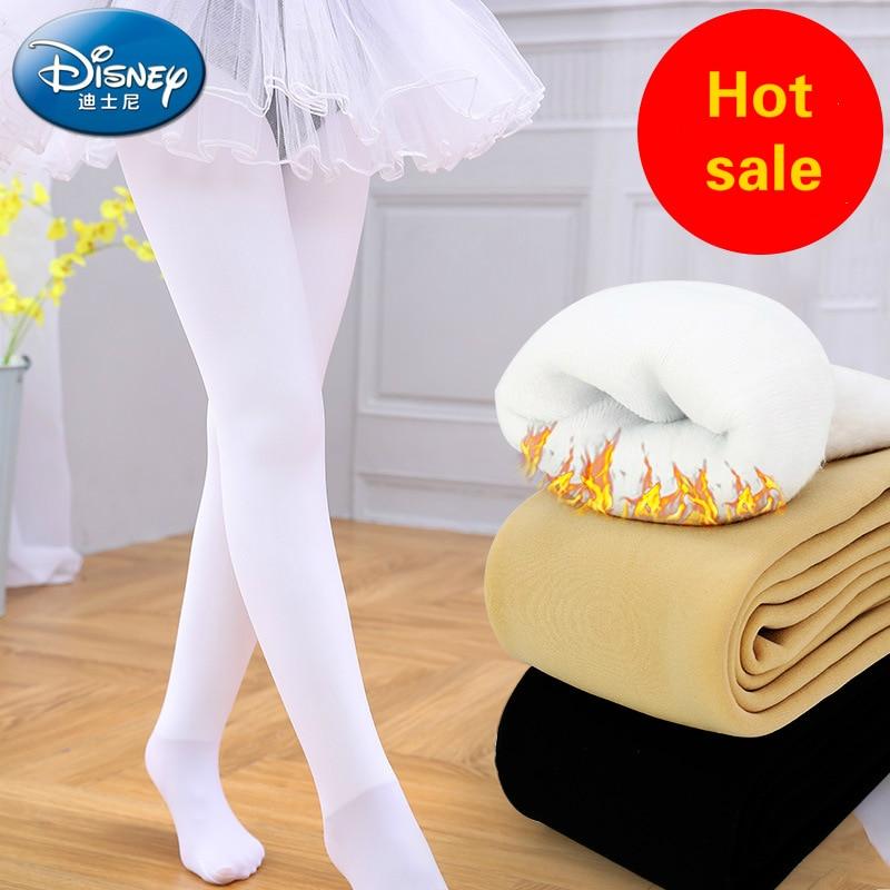 Disney children's pantyhose autumn/winter girl leggings plus thick warm dance socks