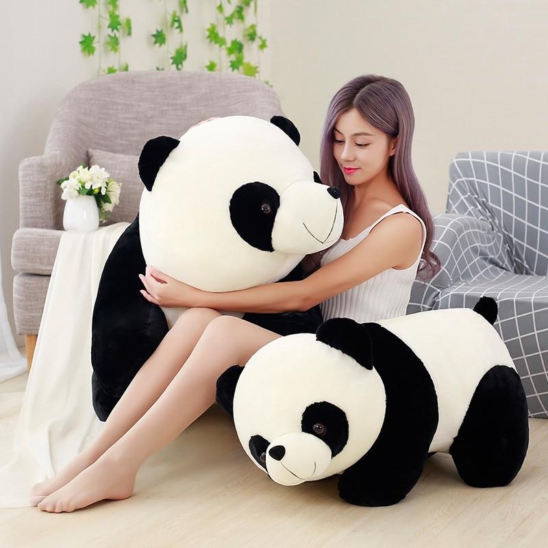 20 ~ 70cm Niedlichen Walking Panda Spielzeug Lebensechte Stuffed Panda Puppe Klassische China Panda Kinder Kinder Geburtstag Geschenk