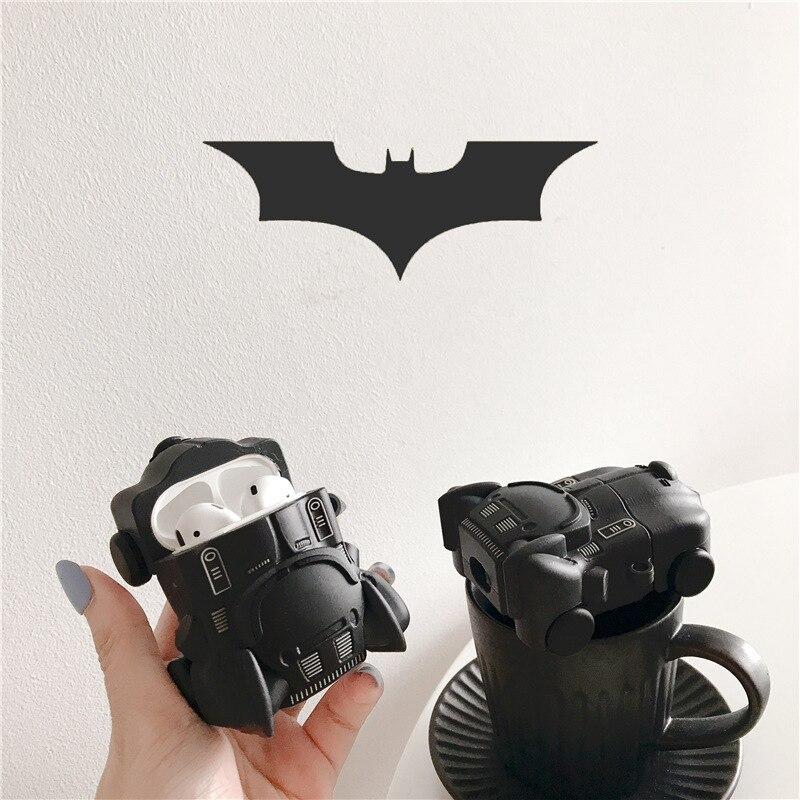 Чехол для Airpods 2 Аксессуары Bluetooth наушники чехол для Airpods защитный чехол Милый силикон с брелком 3D Batmobile