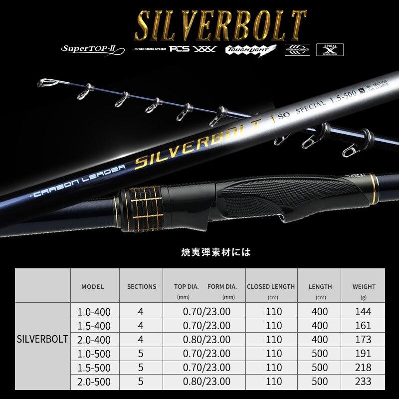Kyorim SILVERBOLT ROCK FISHING ROD 1.5-400 HIGH CARBON TITANIUM GUIDE SIC RING CARBON REELSEAT enlarge