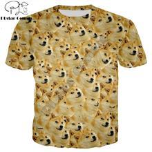 PLstar Cosmos été mode hommes t-shirt drôle tête doge 3d t-shirt dieu chien/shiba inu impression hommes femmes t-shirt décontracté-sweats à capuche