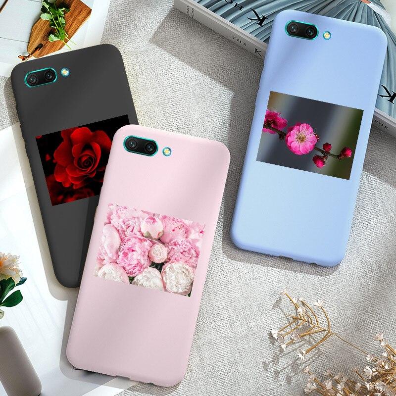 Caso floral para huawei honor 20 20 s lite pro capa de silicone macio colorido honra 9x8x8 s 8c 8a 10 9 lite 10i
