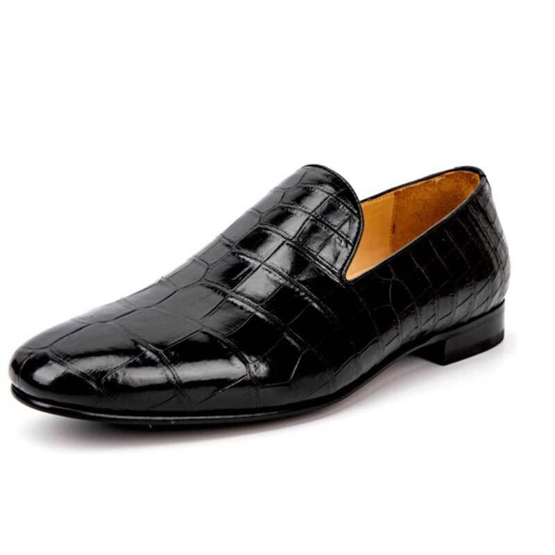 Yinshang-أحذية رجالية من جلد التمساح ، أحذية رسمية للمكتب ، مستوردة