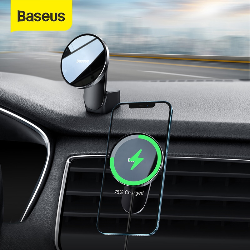 Baseus Magnetic Wireless Charger For iphone 12 Pro Max Car Holder Fast  Wireless Charging Quick Char