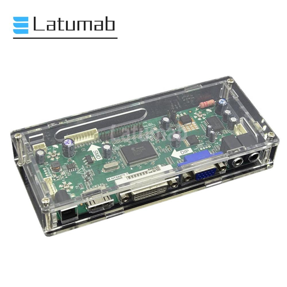 Caja de cartón Latumab para Tablero de Control LED LCD, caja protectora acrílica transparente para placa de dispositivo M.NT68676