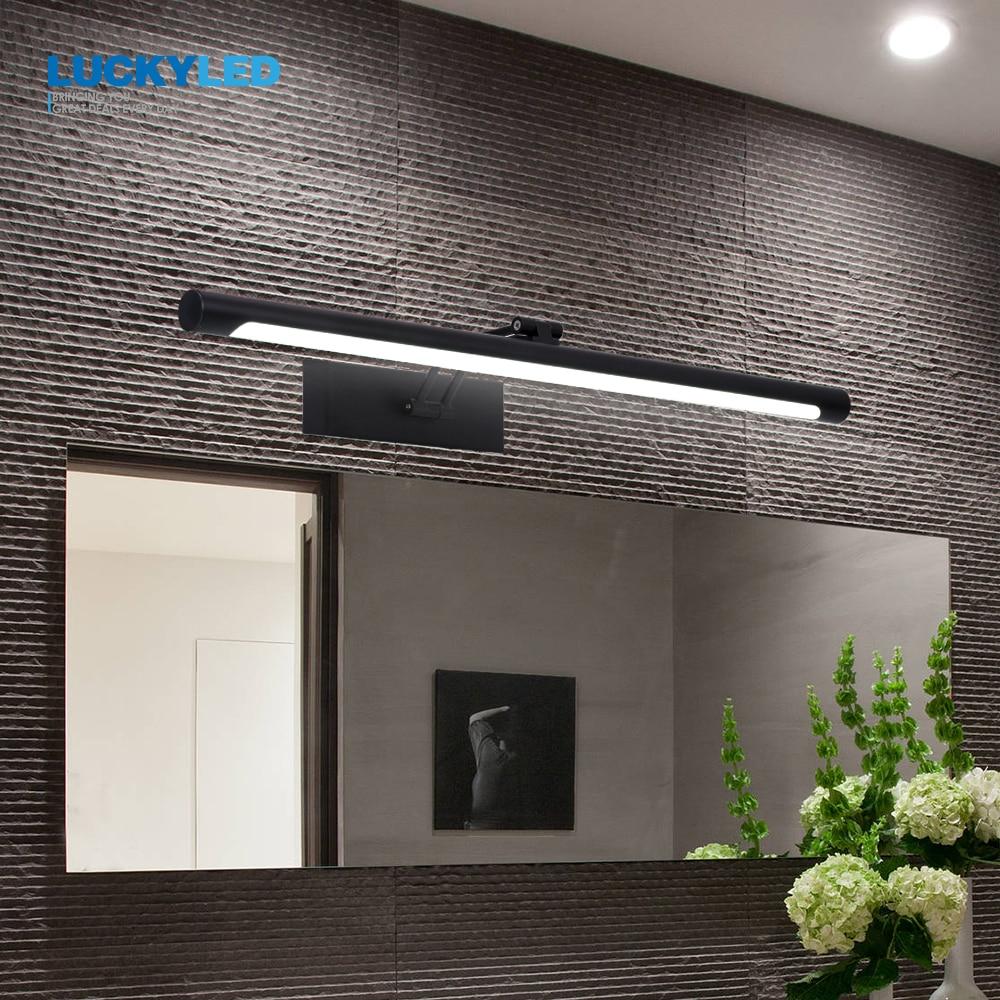 LUCKYLED الحديثة Led مرآة ضوء 8 واط 12 واط AC90-260V الحائط الصناعية الجدار مصباح الحمام ضوء مقاوم للماء الفولاذ المقاوم للصدأ