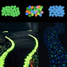 25/50 Pcs Glow Pebbles Lichtgevende Steen Rotsen Voor Loopbruggen Tuinpad Patio Gazon Aquarium Aquarium Decor Gloeiende in Het Donker