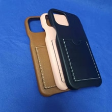 Loe Top Quality Leather Card Pocket Case For iPhone 12 11 Pro Max 7 8 Plus XR X XS Luxury Brand Card