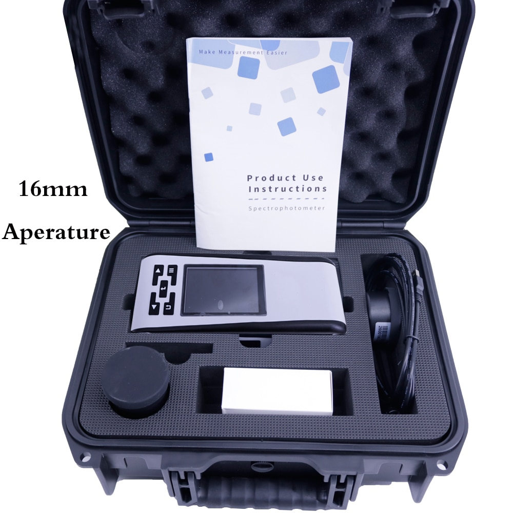 16 мм Большой спектрофотометр Aperature точный цветоизмерительный анализатор разницы в цвете для измерения изогнутой поверхности