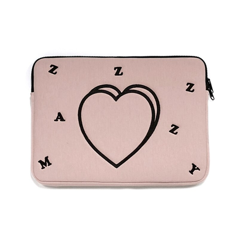 Heart-Shaped Portable Tablet Bag Laptop Bag Case 12 14 Inch Notebook Bag for Macbook Air Pro 13 15 Inch Computer Briefcase Bags